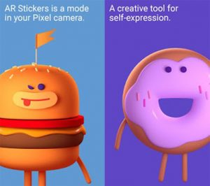 how to use ar stickers app