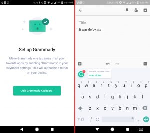 grammarly android keyboard