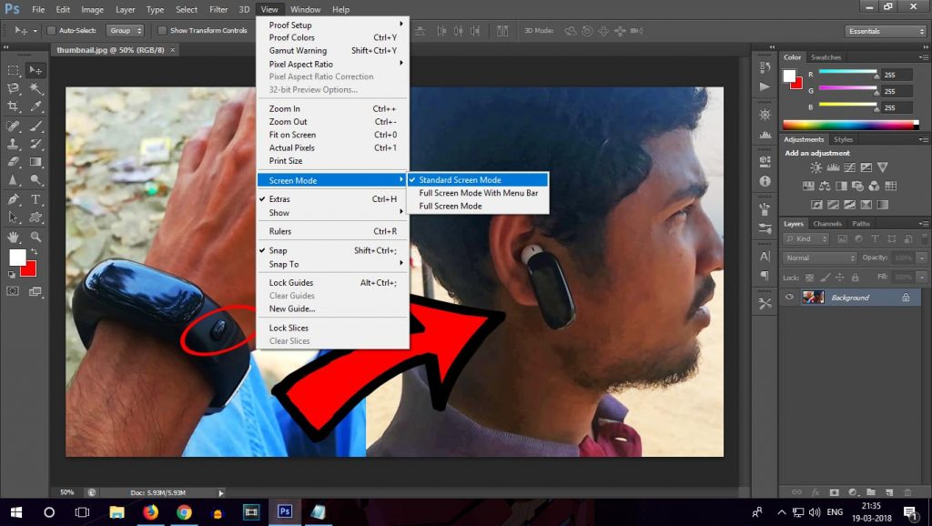 photoshop close minimize maximize buttons are missing