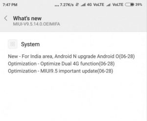 miui 9.5.14 features redmi note 5 pro android oreo