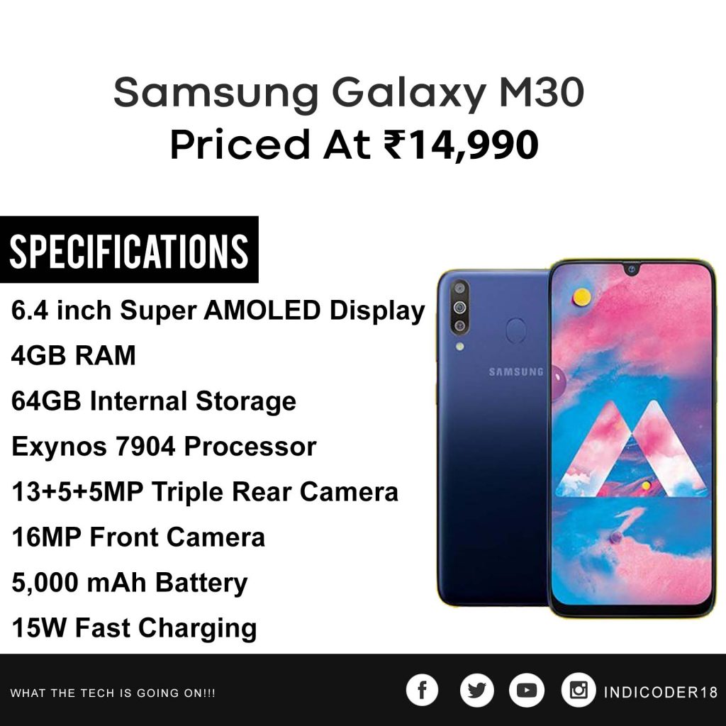 samsung galaxy m30 specifications price in india
