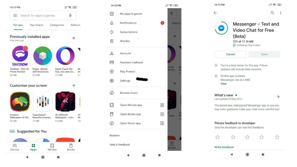 how to get play store material update new